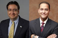 U.S. Rep. Pete Gallego, left, faces Republican Will Hurd, right, in the CD-23 contest next month.