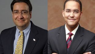 Democratic U.S. Rep. Pete Gallego, left, was ousted by Republican Will Hurd, right, in the CD-23 contest.