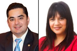 State Rep. Jose Manuel Lozano, R-Kingsville, (l)  faces Democrat Kim Gonzalez in HD 43.