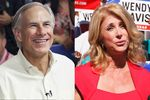 2014 gubernatorial candidates Greg Abbott and Wendy Davis