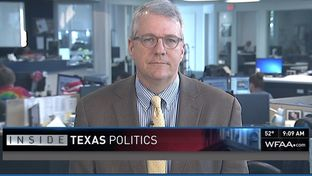 "Texas Tribune Executive Editor Ross Ramsey on WFAA-TV's ""Inside Texas Politics"" on Nov. 2, 2014."