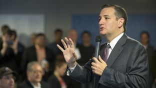 Speaking to Austin's entrepreneur community, U.S. Sen. Ted Cruz blasts Washington's attempt to regulate the Internet on Nov. 14, 2014.