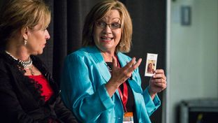 State Rep.-elect Molly White, right, speaks on a women's health panel at the 2014 Texas Tribune Festival on Sept. 20, 2014.