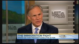 Attorney General Greg Abbott on NBC's Meet the Press