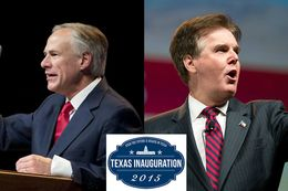 Governor- and Lieutenant Governor-elect Greg Abbott and Dan Patrick will be inaugurated into office on Jan. 20, 2015.