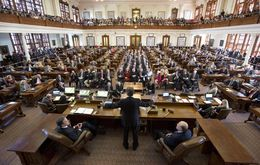 Gov. Rick Perry delivers a farewell speech to a joint session of the Texas House and Senate on Jan. 15, 2015.