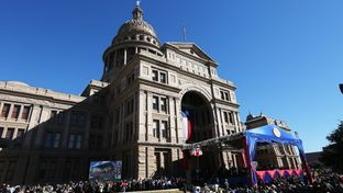 A look at the Texas Capitol before the inaugural festivities begin.