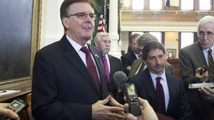 Lt. Gov. Dan Patrick, left, with State Sen. Kevin Eltife, R-Tyler, sponsor of the resolution that changed Senate voting rules on Jan. 21, 2015.