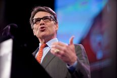 Former Texas Gov. Rick Perry speaks at the Iowa Freedom Summit in Des Moines on Jan. 24, 2015.