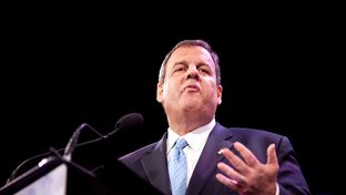 New Jersey Gov. Chris Christie speaks at the Iowa Freedom Summit in Des Moines on Jan. 24, 2015.