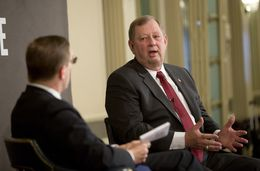 Rep. John Otto R-Dayton, chairman of the House Appropriations Committee, during Tribune Conversation event on February 12th, 2015