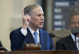 Gov. Greg Abbott outlines an ambitious legislative agenda in his first State of the State speech on Feb. 17, 2015.
