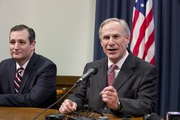 A cheerful Gov. Greg Abbott predicts that any challenge to Judge Andrew S. Hanen's recent amnesty ruling will be rejected on appeal at a Texas Capitol press conference on Feb. 18, 2015.