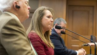 Former House member Suzanna Hupp, who lost her parents in the Killeen Luby's massacre, testifies for open carry bills in House Homeland Security Committee on March 17, 2015.