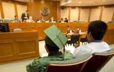 Dreamer Jesus Trevino, waits his turn to testify  during the Senate committee hearing on April 6th, 2015