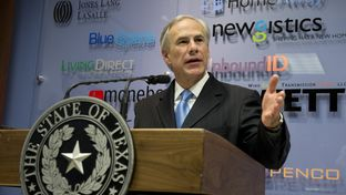 Texas Gov. Greg Abbott says he has problems with a proposed state budget that includes significant business franchise taxes during a Tax Day press conference on April 15, 2015.