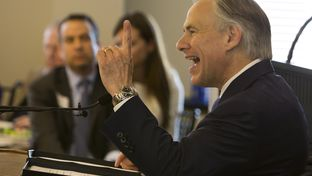 Gov. Greg Abbott speaks during Texas Public Policy Foundation's grand opening of new building on April 21st, 2015
