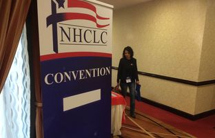 The National Hispanic Christian Leadership Conference met Wednesday in Houston to hear speeches from former Florida Gov. Jeb Bush and former Arkansas Gov. Mike Huckabee. Their remarks illustrated the line the GOP is straddling on immigration as it gears up for the 2016 presidential race.
