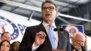 Gov. Rick Perry at his presidential campaign kickoff on June 4, 2015.