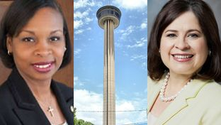 Ivy Taylor (left) was elected mayor of San Antonio on Saturday after defeating former state Sen. Leticia Van de Putte in a historic runoff election.