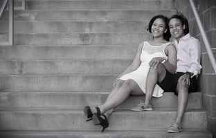Tavanya Wright, left, and Amber Gregg will be married at the Terrace Club in Dripping Springs, Texas.