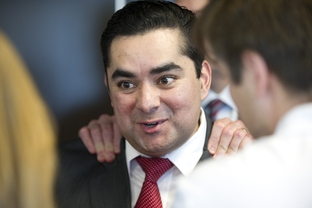 State Representative J.M. Lozano announces that he's switching to the Republican Party during a press conference Thursday at the Republican Party of Texas.