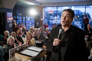 Gov. Rick Perry campaigning in Cedar Rapids, Iowa, on Dec. 28, 2011.