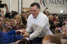 Mitt Romney at a campaign rally at Competitive Edge Manufacturing in Des Moines, Iowa, on Jan. 2, 2012.