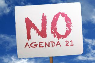 Conservative activists around Texas are citing a 1992 U.N. resolution called Agenda 21 in protesting various local development initiatives. Agenda 21 is a non-binding resolution that promotes sustainable development.