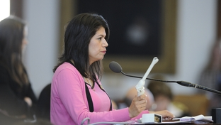 Rep. Carol Alvarado (D-Houston) holds a sonogram device on the House floor during debate on HB15 March 2, 2011