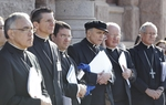 Nine Catholic Bishops, members of the Texas Catholic Conference, gather at the State Capitol on their legislative advocacy day April 6, 2011.