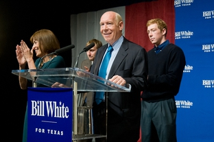Bill White addresses supporters in Houston after losing to Gov. Rick Perry