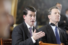 CEO David Campbell of Luminant testifies on power plant outages before a Senate Committee on February 15, 2011