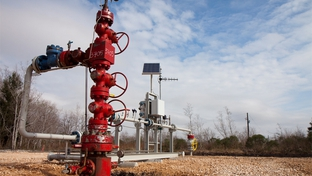 Denbury Resources began pumping carbon dioxide into this oilfield in Alvin, Texas, last week. The carbon dioxide is piped in from Mississippi and helps extract oil.
