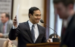 State Rep. Joaquin Castro, D-San Antonio, offers one of many amendments that failed adoption on SB14 voter ID legislation during evening debate on March 23, 2011.