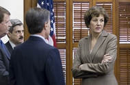 Comptroller Susan Combs at the Texas Capitol on July 19, 2011.