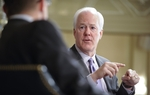U.S. Sen. John Cornyn is interviewed by Evan Smith at TribLive on April 18, 2011.