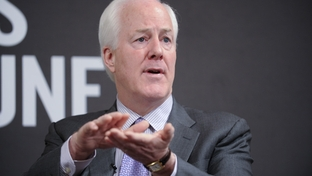 U.S. Sen. John Cornyn speaks to a TribLive audience on April 18, 2011