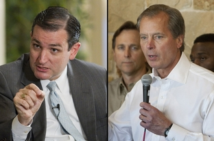 U.S. Senate candidates Ted Cruz and David Dewhurst