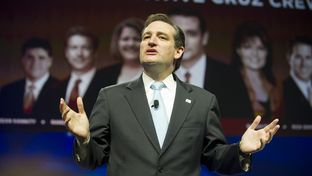 Ted Cruz speaking at the state Republican convention on June 9, 2012.