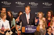 Lt. Gov. David Dewhurst at his primary watch party in Houston on May 29, 2012.