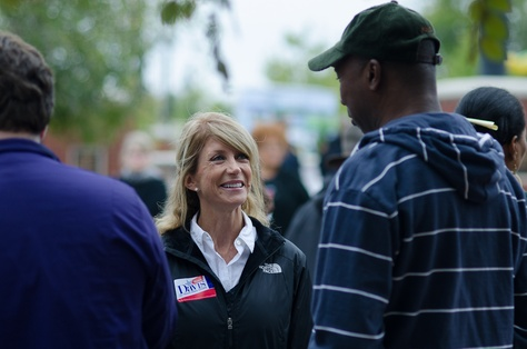 State Sen. Wendy Davis, D-Fort Worth, at the Haranbee Festival in Fort Worth on Oct. 6, 2012.
