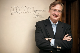 Fred Lewis in his Austin office on June 22, 2010.