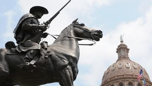Terry's Texas Rangers Monument at the Texas Capitol.