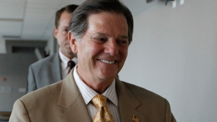 Former House Majority Leader Tom DeLay walks to the 331st District Court of Travis County during the August 2010 start of pre-trial hearings on corruption and money laundering charges against the former politician.
