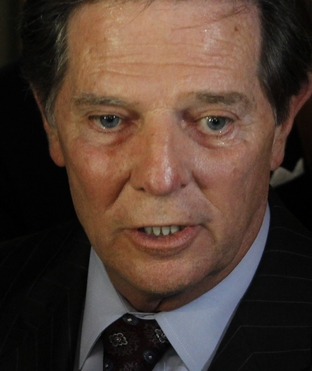 Tom DeLay, at the Travis County courthouse following his conviction on money-laundering charges.