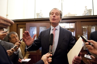 "After emerging from a closed-door meeting with House members, Lt. Gov. David Dewhurst tells the press, ""We're very very close"" in budget negotiations on May 19, 2011."