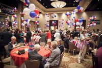 Supporters arriving at Lt. Gov. David Dewhurst's primary watch party in Houston on May 29, 2012.