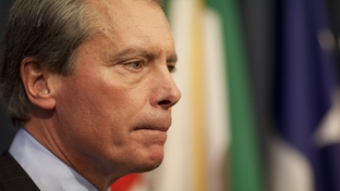 Lt. Gov. David Dewhurst speaking to the press about budget and education matters on May 17, 2011.