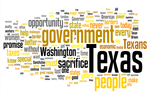Word cloud of David Dewhurst's prepared remarks for his inauguration as Lieutenant Governor.